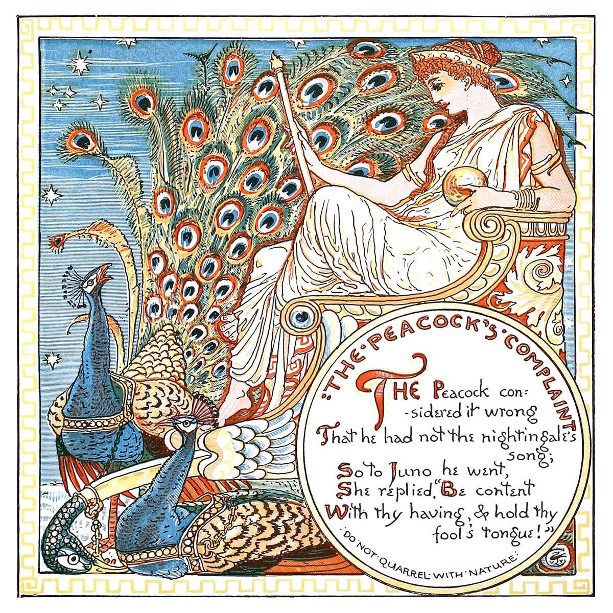 Ilustración del británico Walter Crane datada en torno a 1889