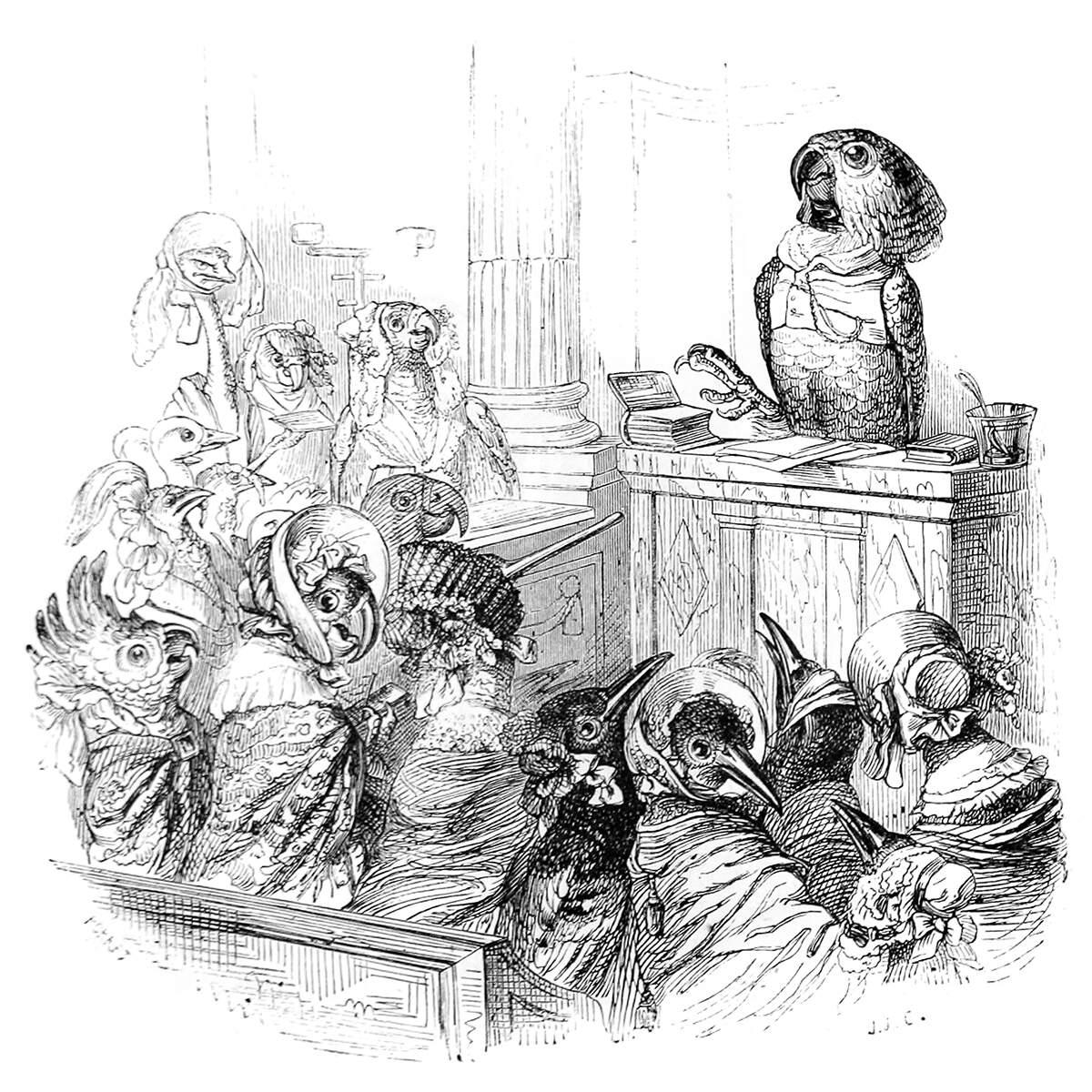 Ilustración del siglo XIX del caricaturista J.J. Grandville