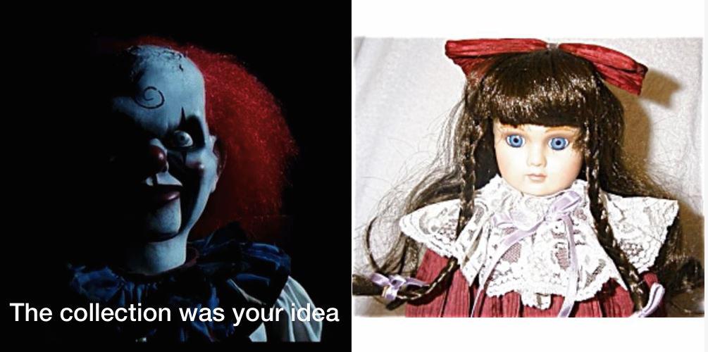 Payasos y muñecas victorianas, regalos que provocaron miedos - Foto: gift.movingbrands.com