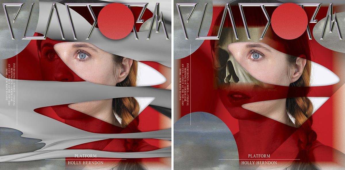 """Platform"" - Holly Herndon, 4AD, 2015. Anverso y reverso. Diseño: Metahaven"