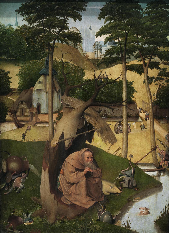 'Las tentaciones de San Antonio' (El Bosco, c. 1490) - Museo del Prado