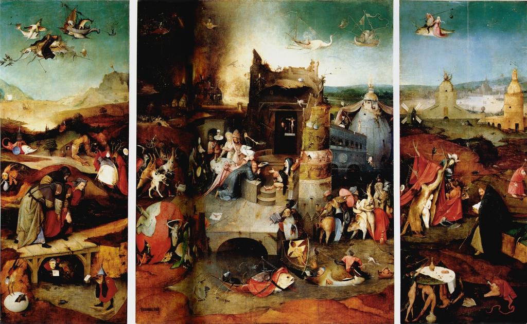 'Las tentaciones de San Antonio' (El Bosco, c. 1501) - Museu Nacional de Arte Antiga, Lisboa