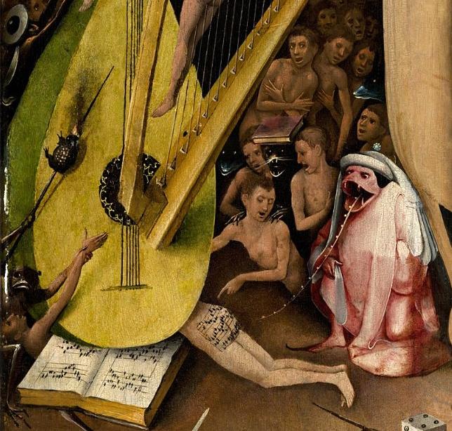 Detalle del 'Infierno Musical' de 'El jardín de las delicias' del Bosco