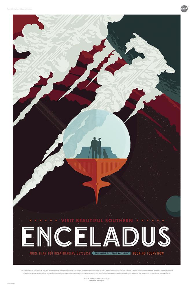 Enceladus - Courtesy NASA/JPL-Caltech