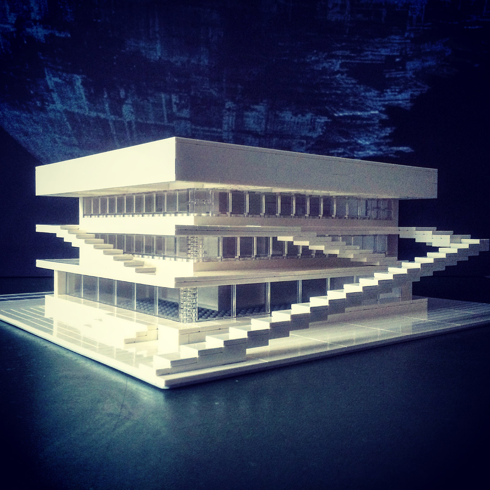 Uno de los modelos arquitectónicos de Arndt Schlaudraff