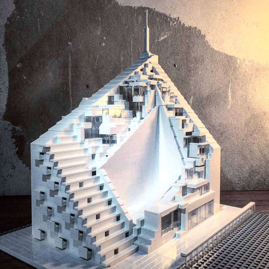 Arndt Schlaudraff reproduce el edificio residencial Via 57 West , en Manhattan, diseñado por Bjarke Ingles