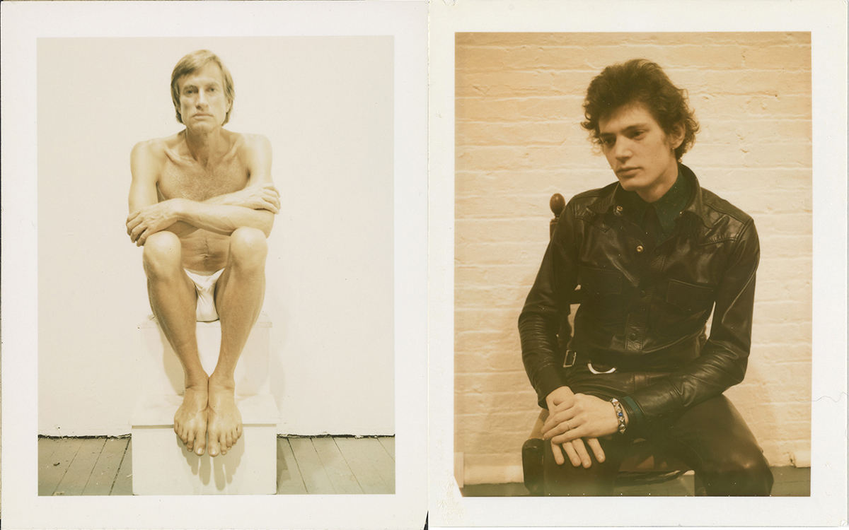 Polaroids de Robetr Mapplethorpe, 1972-1973. Izquierda: Wagstaff. Derecha: autorretrato de Mapplethorpe. Gift of The Robert Mapplethorpe Foundation to the J. Paul Getty Trust and the Los Angeles County Museum of Art