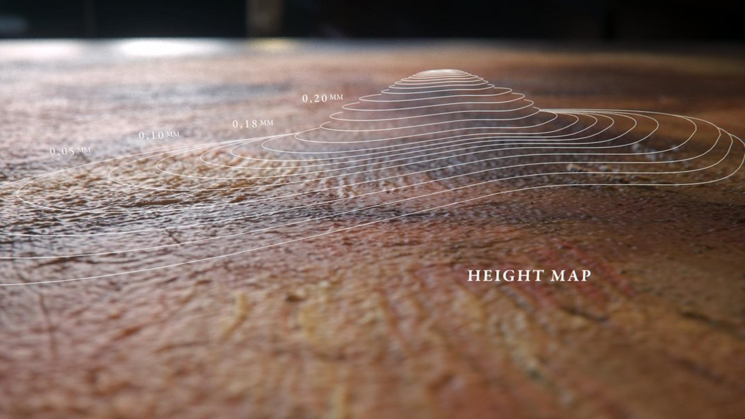 Detalle del mapa de altura generado a partir del análisis de las pinceladas de Rembrandt - Foto: www.nextrembrandt.com
