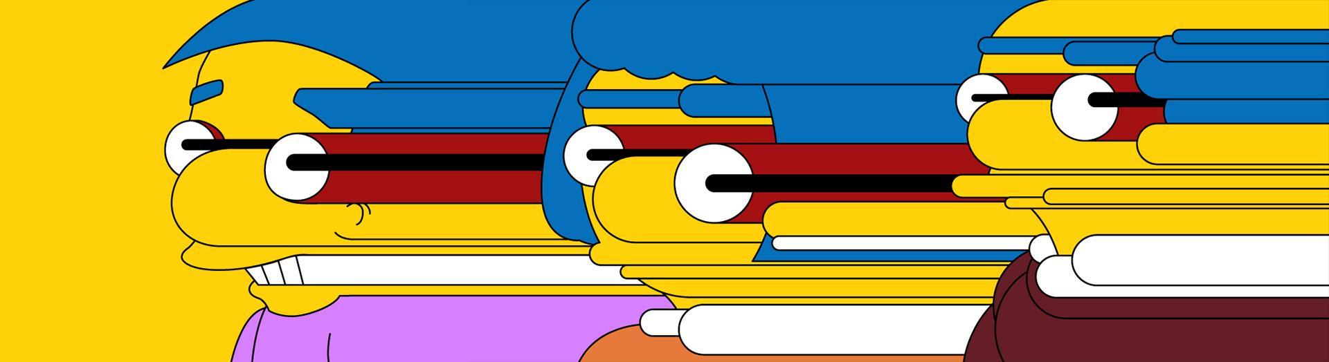 Diseños del estudio Laundry para la animación de los Simpson del canal FX - Foto: www.laundrymat.tv