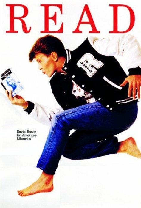 Poster de David Bowie para promover la lectura - American Library Association