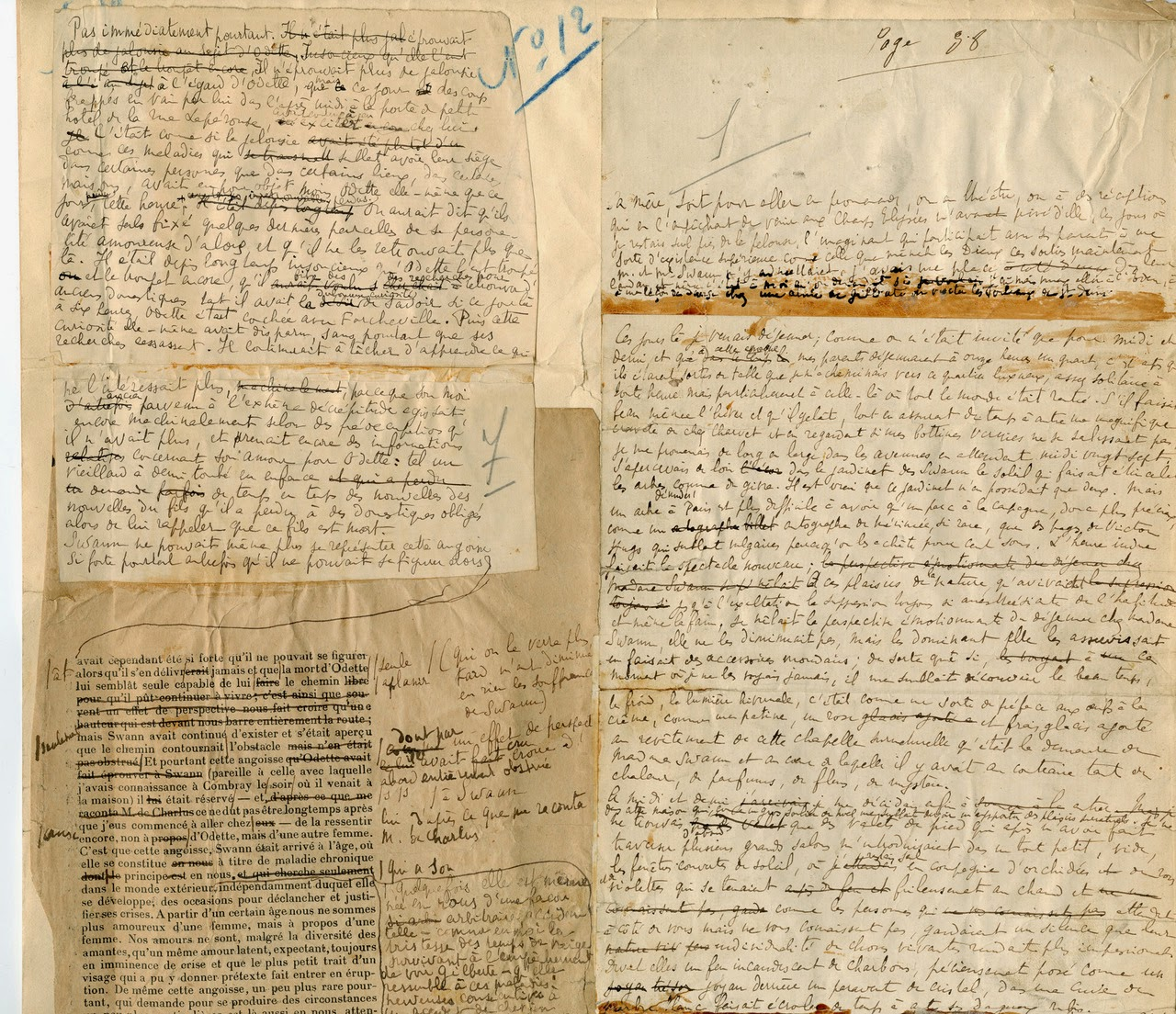 Manuscrito de Proust - Biblioteca Francesa