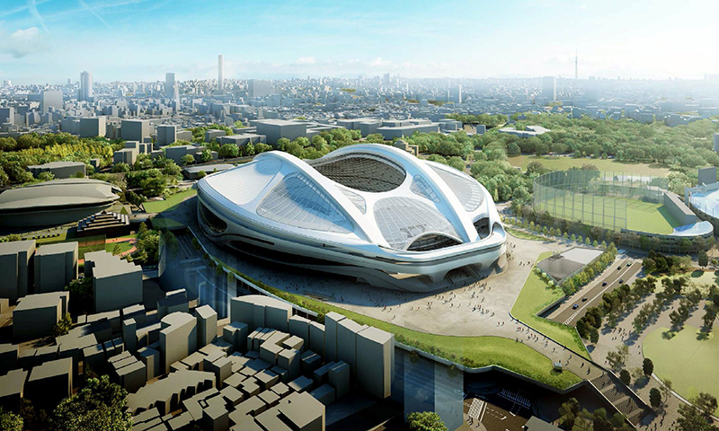 Tokyo Olympic Stadium - Foto: Zaha Hadid Architects
