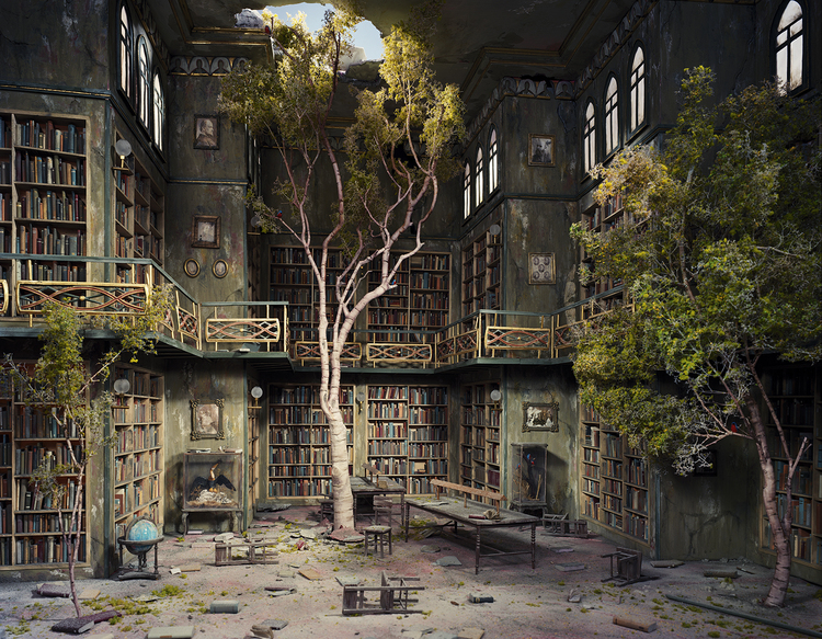 'Library' - Foto: Lori Nix (lorinix.net)