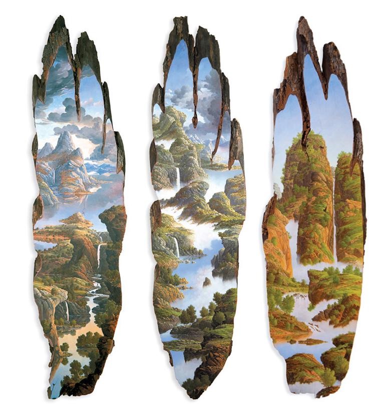 'Tall Sassafras Slice I, II, III' - Alison Moritsugu - Fotos: alisonmoritsugu.com