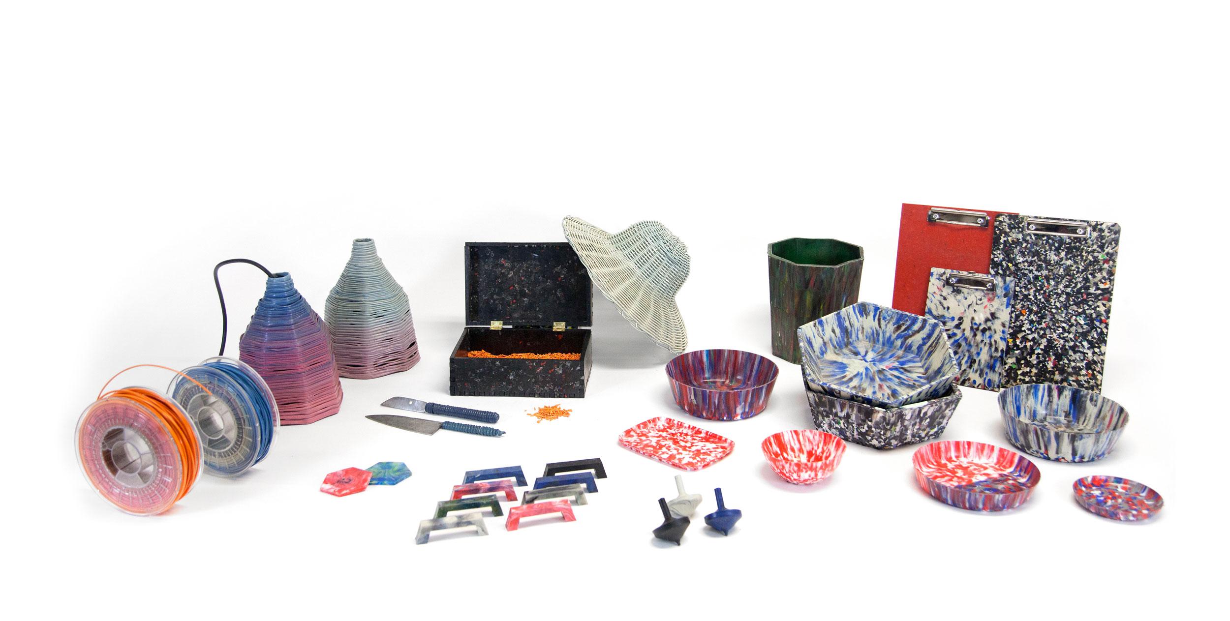 Plástico reutilizado - Foto: preciousplastic.com