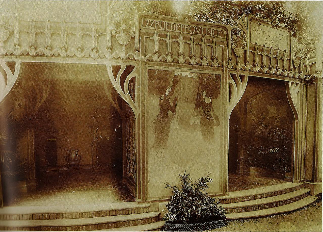 Pabellón 'art nouveau' de Bing para la exposición universal de París del año 1900