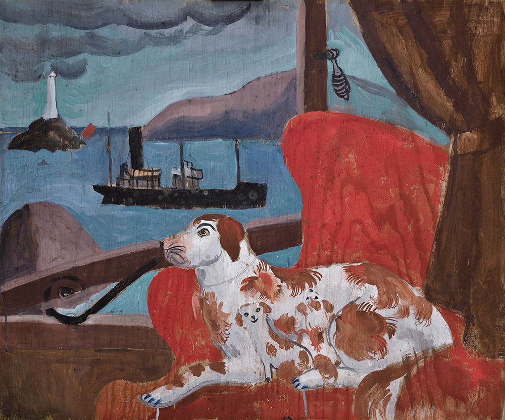 Christopher Wood, China Dogs in a St Ives Window, 1926 - Courtesy Pallant House Gallery