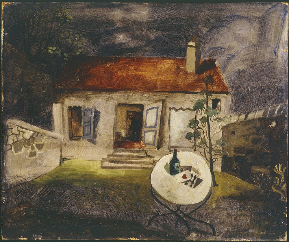 Christopher Wood, Little House by Night, 1930. Private collection - Courtesy Pallant House Gallery