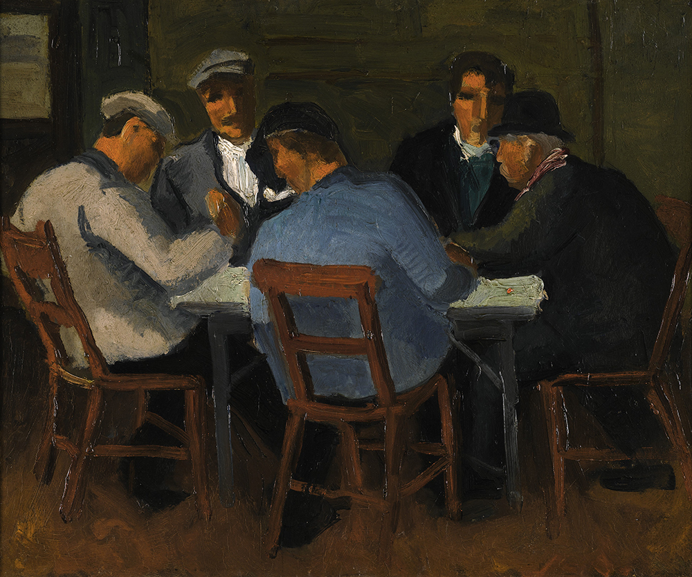 Christopher Wood, The Card Players, 1922. Michael and Ruth Weston - Courtesy Pallant House Gallery