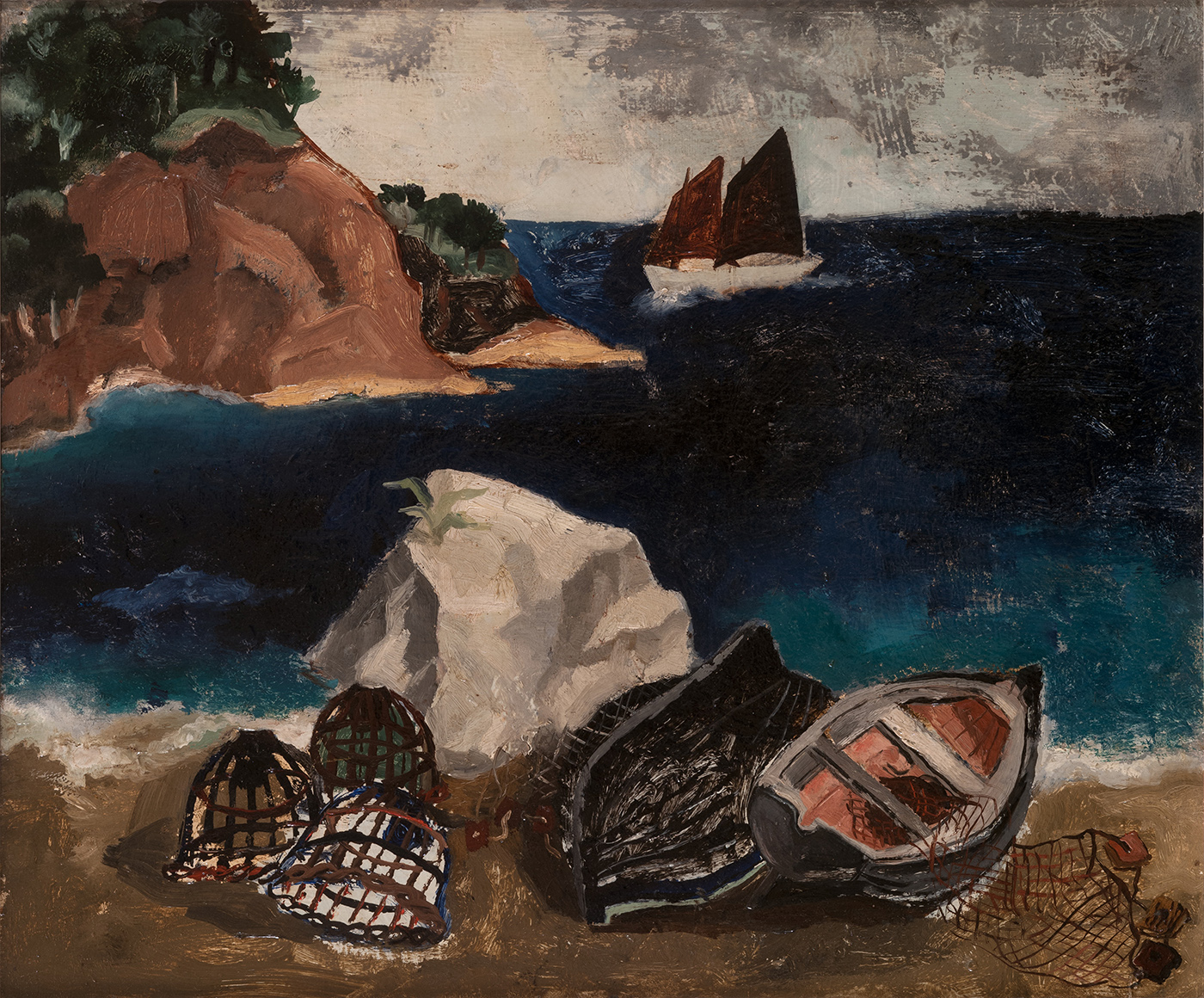 Christopher Woof, Treboul Blue Sea. Private collection - Courtesy Pallant House Gallery