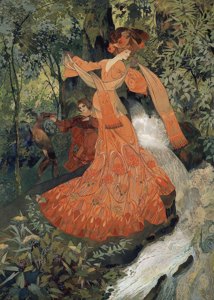 'Elegante Près d'une Source' (1903) - Georges de Feure