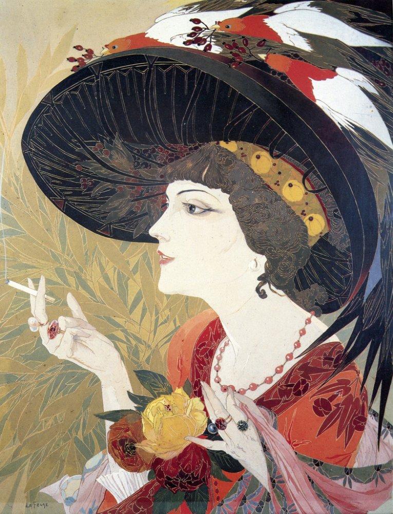 'La Fumeuse' (1910) - Georges de Feure