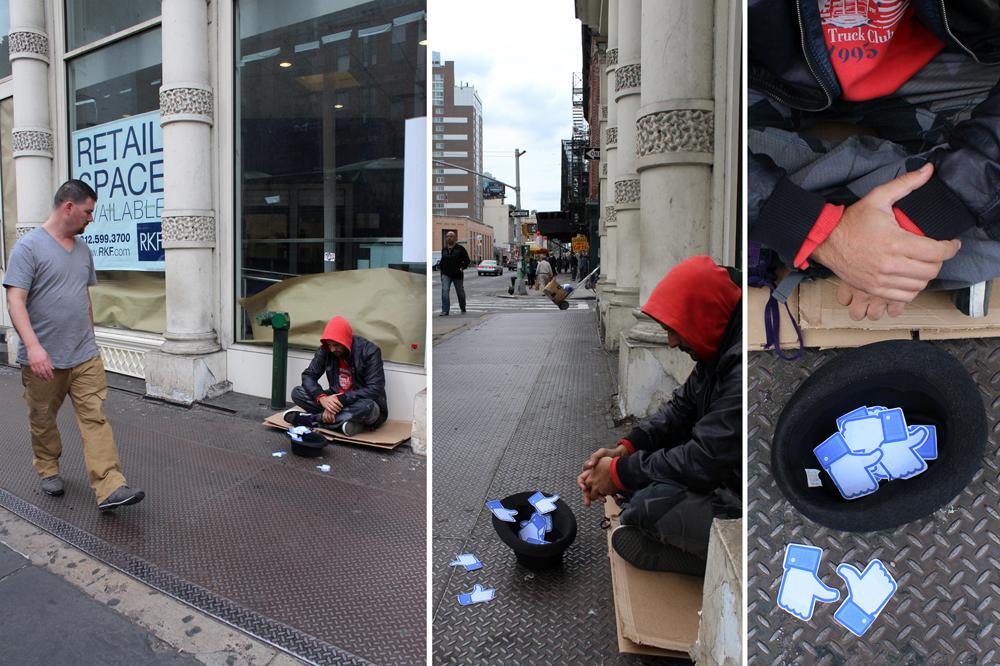 'Misery in the age of Facebook' ('La miseria en la era de Facebook') - Vlady - Foto: www.vladyart.com