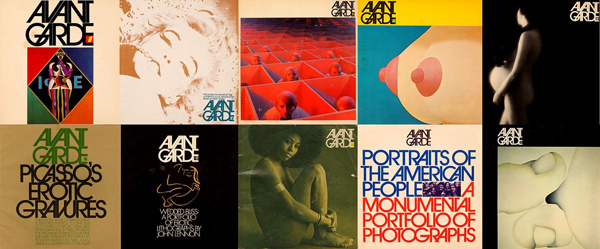 Mosaico con portadas de la revista 'Avant Garde'