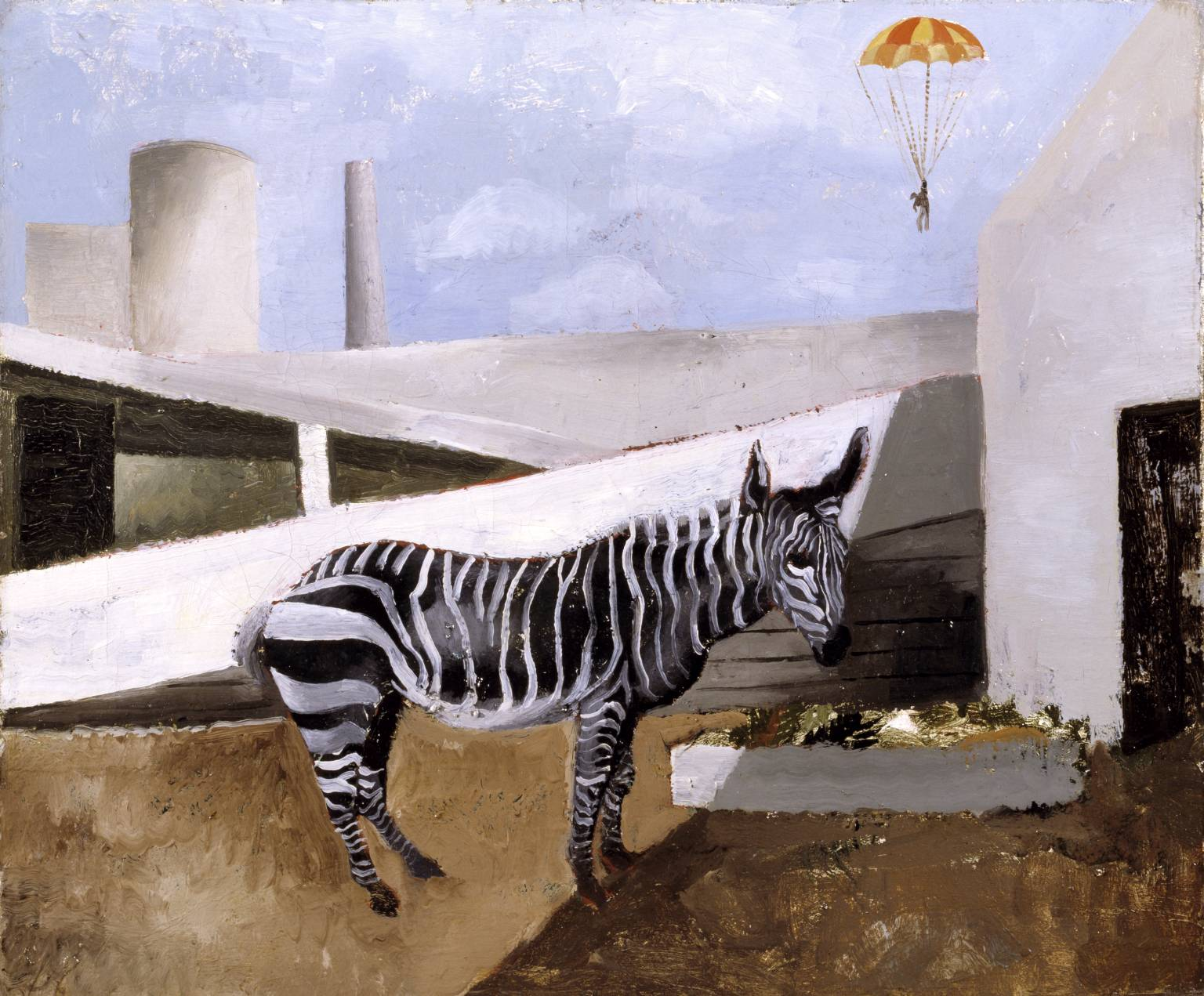 Christopher Wood, Zebra and Parachute 1930 - Courtesy Tate Gallery