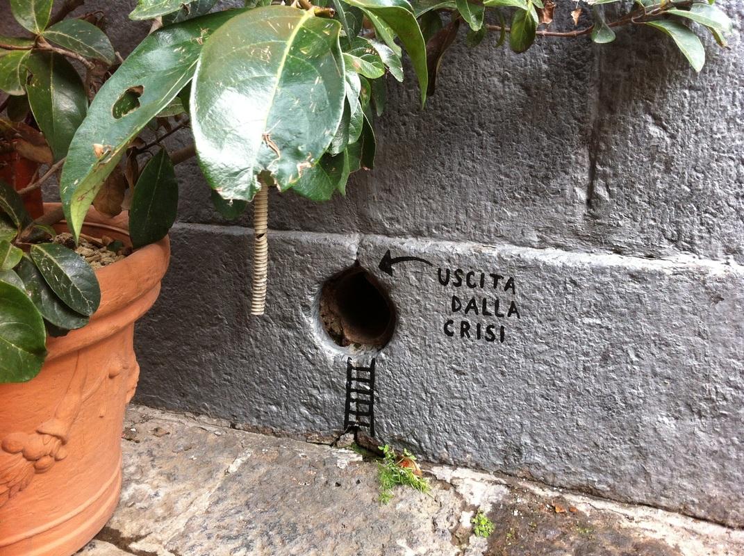 'Uscita dalla crisi' ('Salida de la crisis') - Vlady - Foto: www.vladyart.com