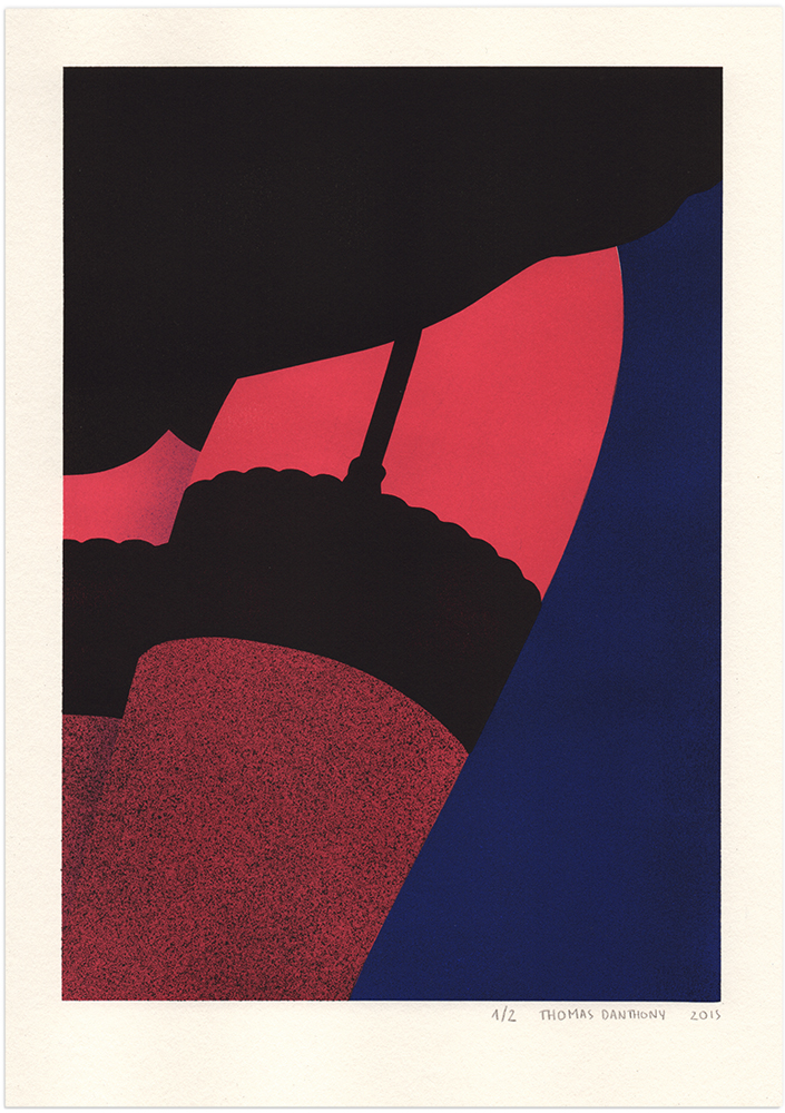 'Cabaret', 'gouache' de la serie 'Voyage' - © Thomas Danthony - Foto: thomasdanthony.com