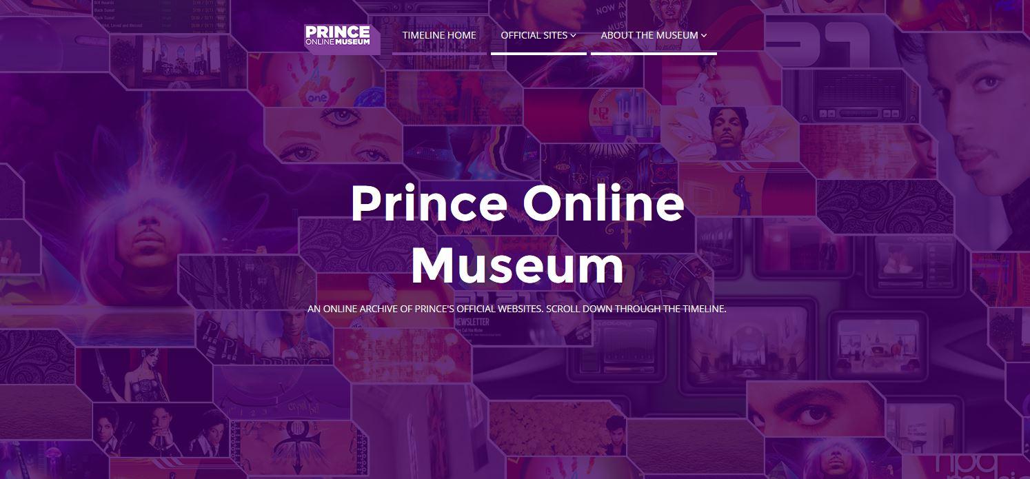 Captura de la web Prince Online Museum