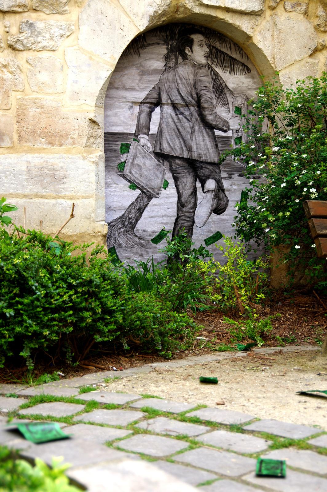 'La fuite' - Levalet - Foto: levalet.overblog.com