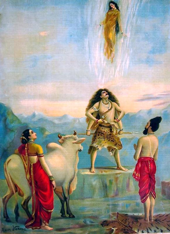 'Descent of Ganga' - Raja Ravi Varma