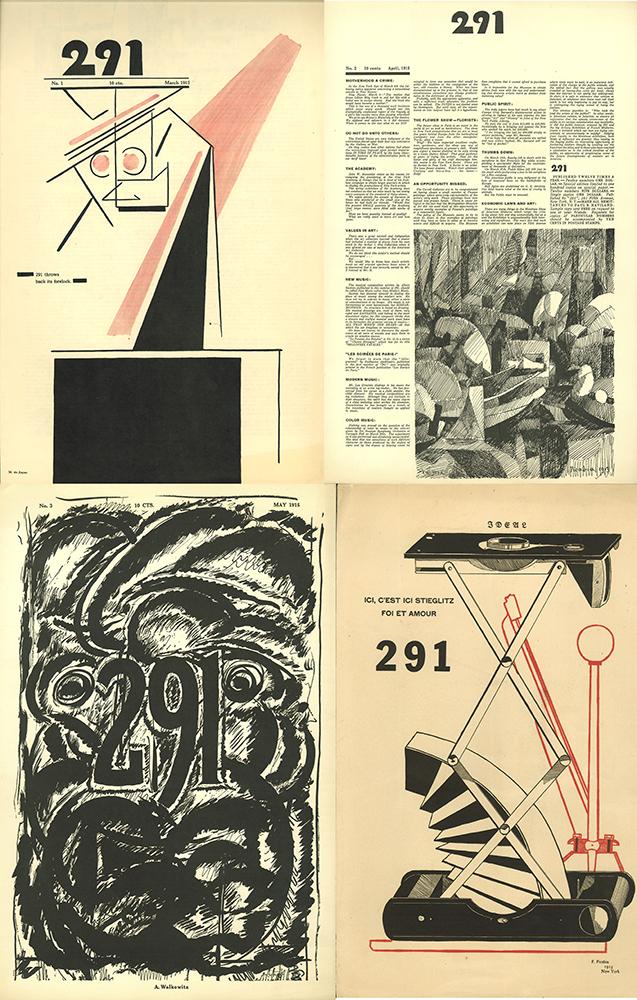 Portadas de cuatro de los ejemplares de la revista 291 - Dominio público