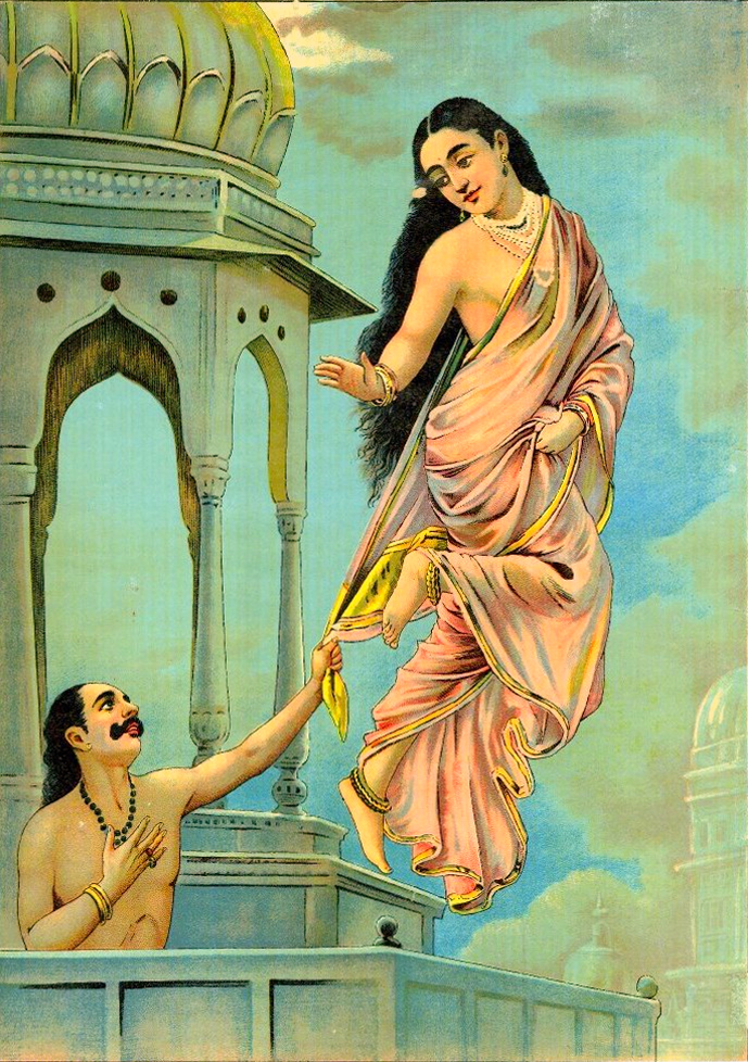 'Urvashi Pururavas' - Raja Ravi Varma