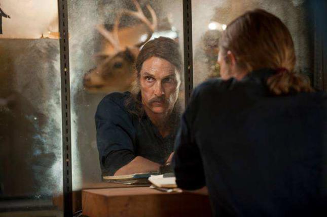 Matthew McConaughey como Rust Cohle en la serie 'True Dtective'