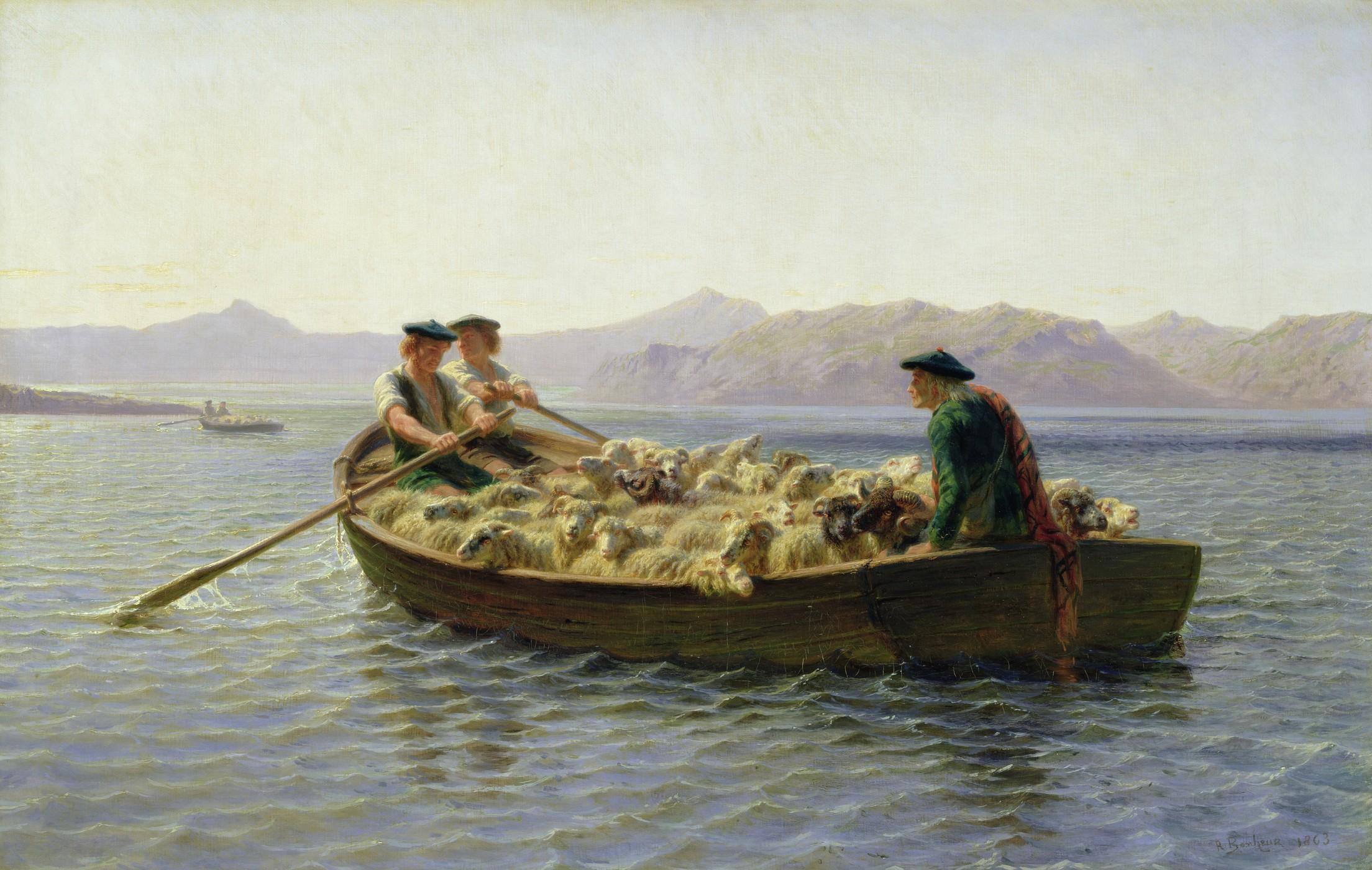 Changement de pâturages - Rosa Bonheur, 1863 - Dominio público