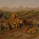 Rosa Bonheur - Calves, 1879 - Dominio público