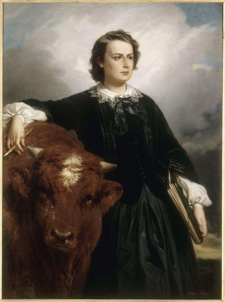 Portrait de Marie-Rosalie dite Rosa Bonheur, 1857 - Édouard Louis Dubufe - Dominio Público