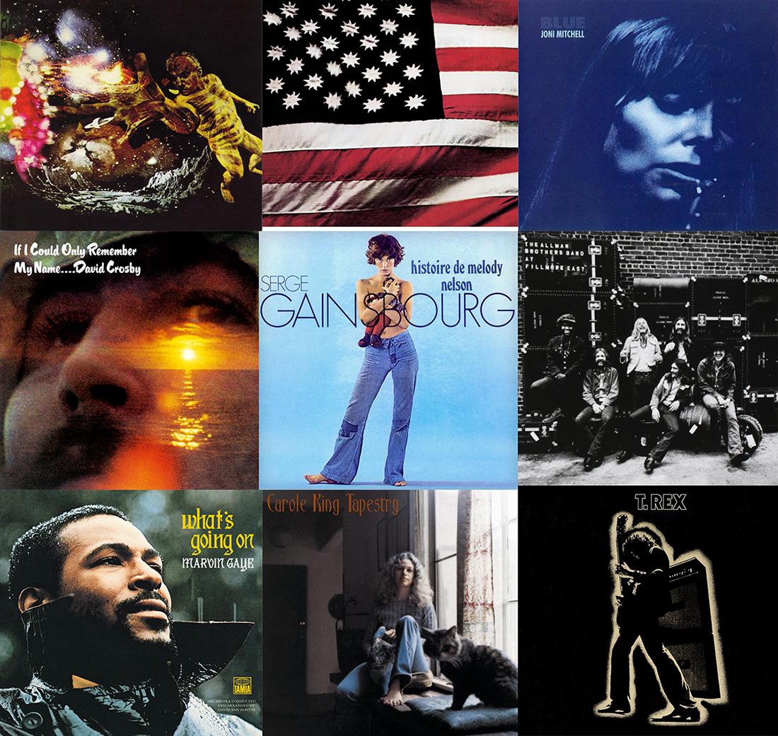 Nueve grandes discos editados en 1971