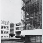Lucia Schulz Moholy, Bauhaus Building, Dessau: Northwest corner of the workshop wing, 1927, Harvard Art Museums/Busch-Reisinger Museum