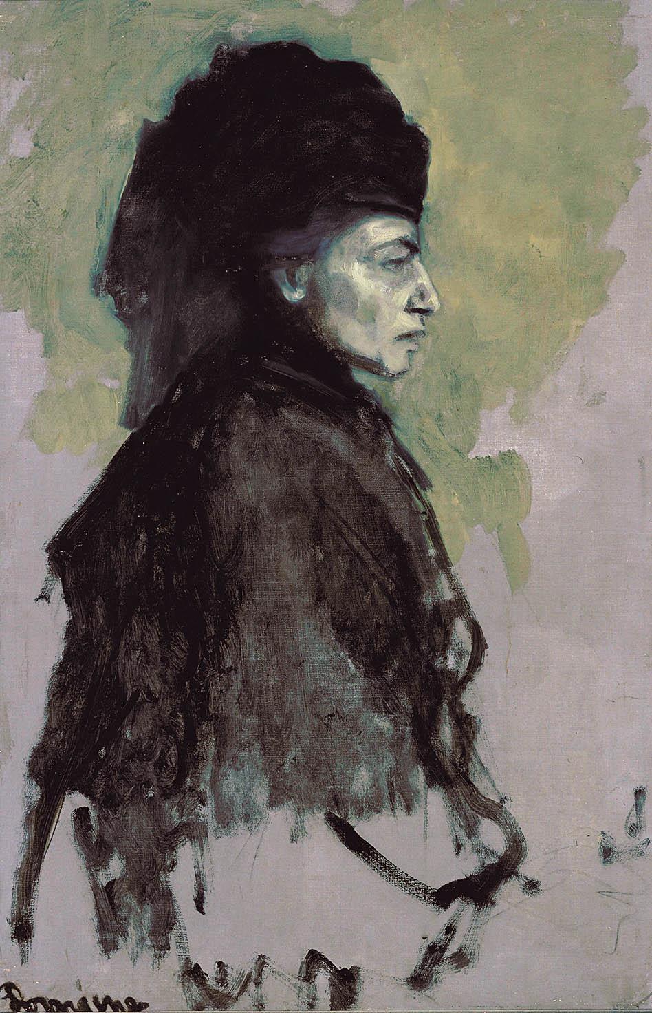 Romaine Brooks - Dame en Deuil, ca. 1910 - Smithsonian American Art Museum