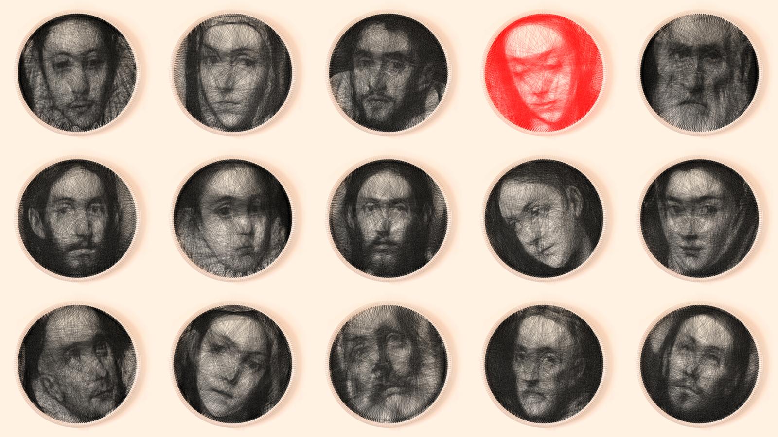 Colección de retratos de Petros Vrellis inspirados por El Greco - Foto: artof01.com/vrellis