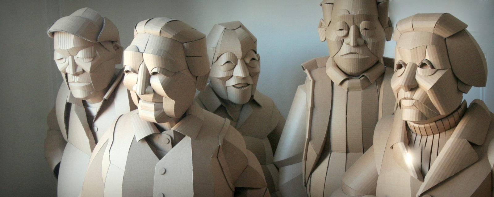 Esculturas de cartón de Warren King - Imagen: Galleria Sculptor, Helsinki