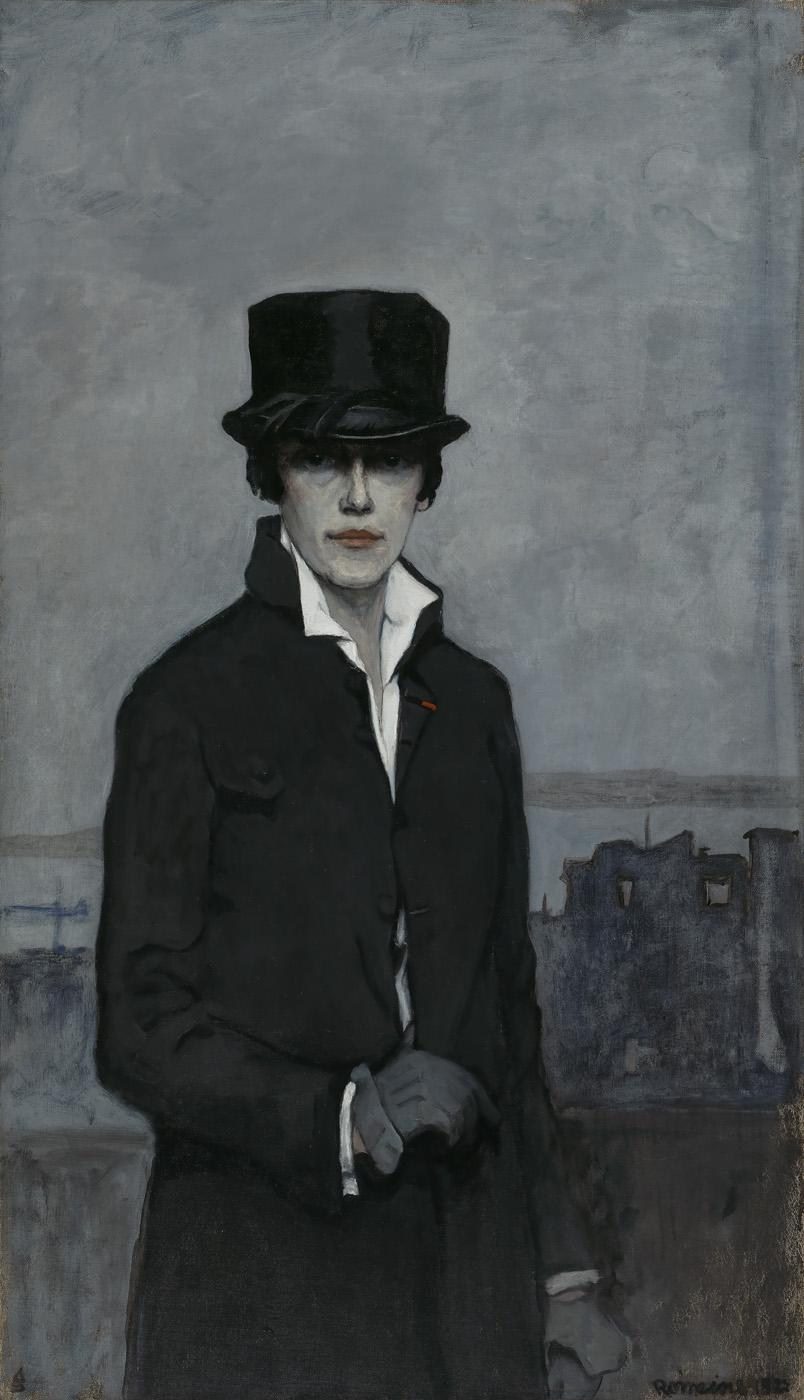 Romaine Brooks, Self-Portrait, 1923 -Smithsonian American Art Museum