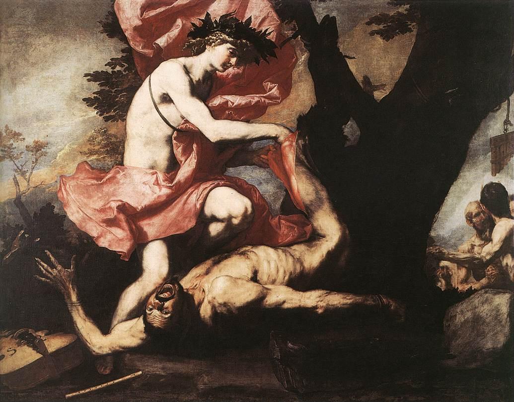 José de Ribera - 'Apolo desollando a Marsias' - Dominio público