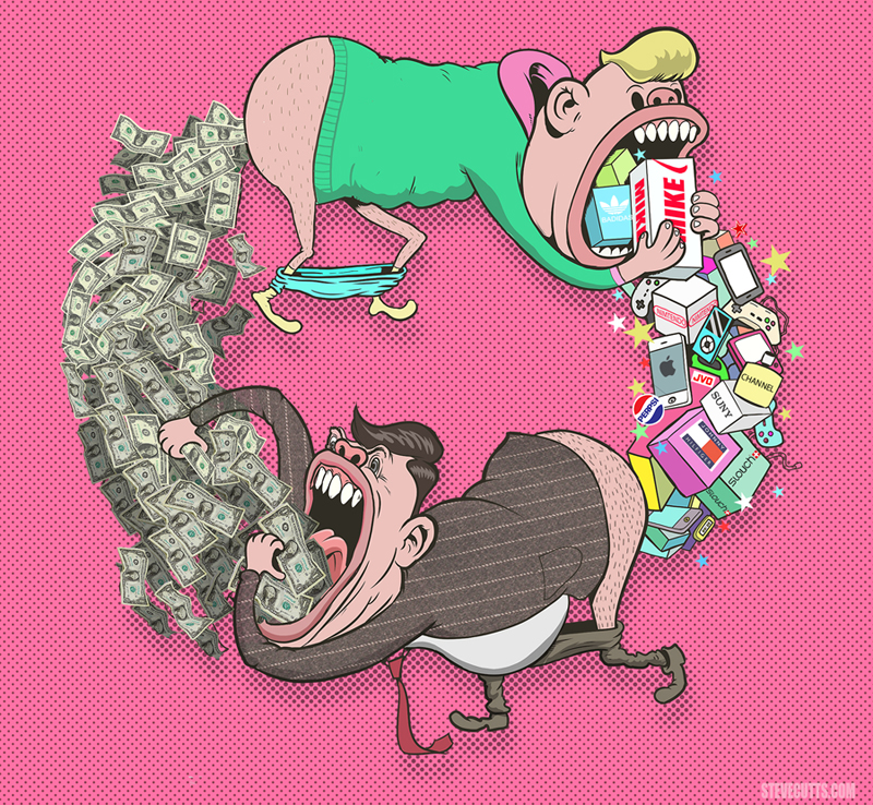 'The Circle of Life' - © Steve Cutts 2016