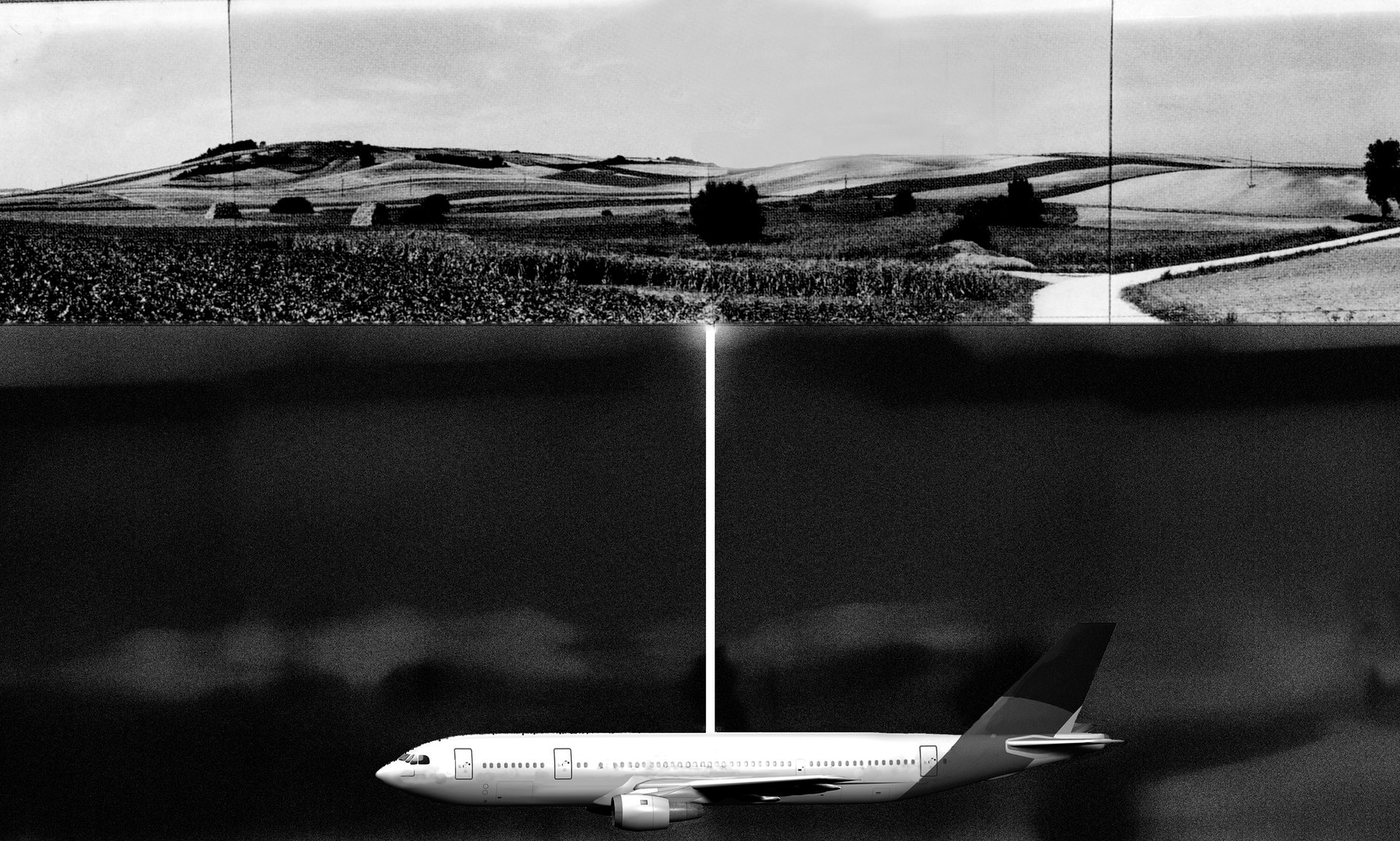 Roger Hiorns' proposal for the Untitled (Buried Aircraft) project. Photograph: Roger Hiorns/Ikon Gallery