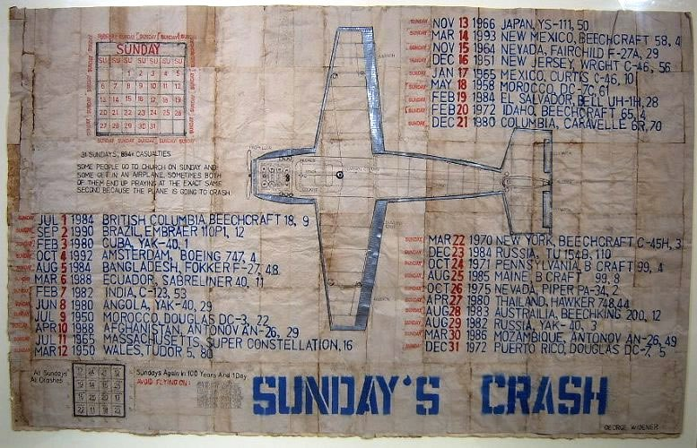 George Widener - Sunday's Crash, 2005